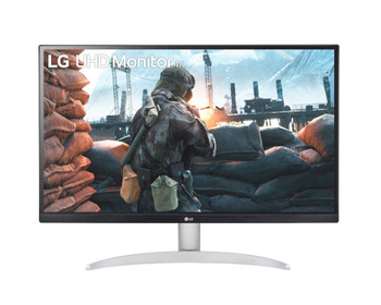 "LG 27"" (16:9) UHD 4K IPS LED Monitor with VESA DisplayHDR 400, HDMI(2), DP, Speakers, 3yr"