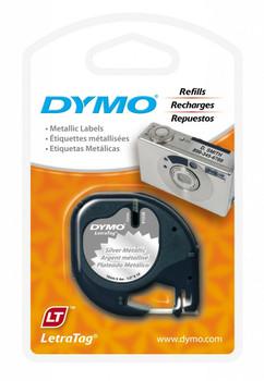 Dymo LetraTag Tape 12mm x 4M Silver