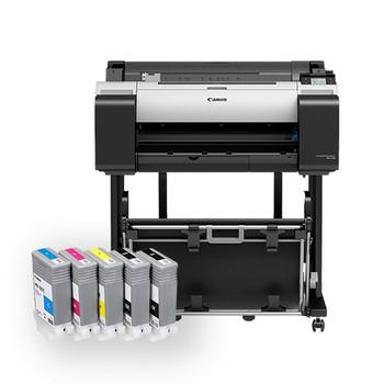 Canon IPFTM-205 24 5 Colour Graphics Large Format Printer with Stand + Bonus 130ml Ink Set