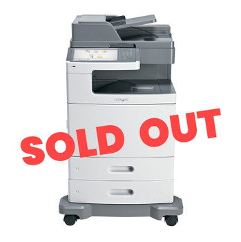 Lexmark X792de 47ppm A4 Colour Multifunction Laser Printer + Base + 2 Trays (Second Hand - Used) (47B1021-RE+BASE+2T)