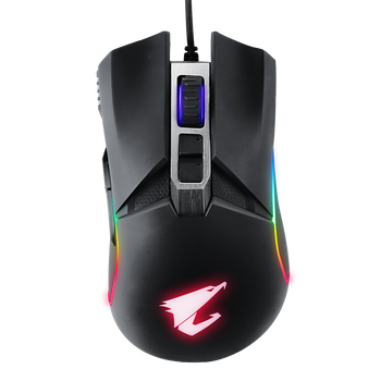 AORUS, M5, Ergonomic Right-handed Gaming Mouse, 16000dpi, Pixart 3389 Optical Sensor, 2 side buttons, USB Corded, RGB Fusion 2.0, 2 Years Warranty