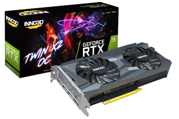NVIDIA, RTX 3060Ti LHR, Twin X2 OC, 1665MHz, 8GB GDDR6, 3xDP, 1xHDMI, ATX, 2xFans, 650W, 3 Years Warranty