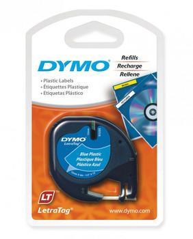 Dymo LetraTag Plastic 12mm x 4M Blue