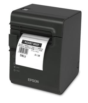 Epson TM-L90ii-682 Serial Thermal Linerless Label Printer (Black) with Built-in USB