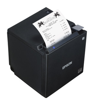 Epson TM-M50 Thermal Receipt Printer (Black) with USB Ethernet Bluetooth for iOS Android Windows