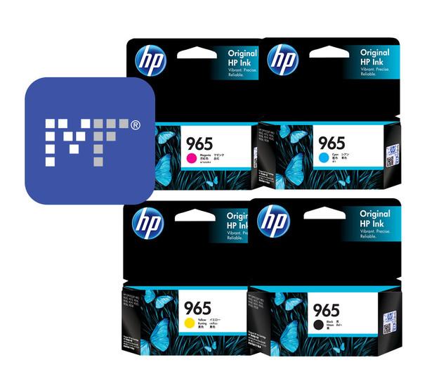 HP 965 Standard Ink Bundle (includes: 3JA77AA, 3JA78AA, 3JA79AA, 3JA80AA)