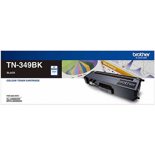 Brother TN-349BK SUPER HIGH YIELD BLACK TONER - 6000Pages