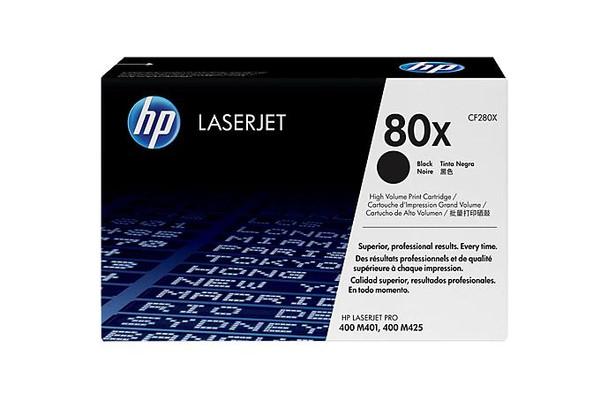 HP 80X High Yield Black LaserJet Toner Cartridge (CF280X)