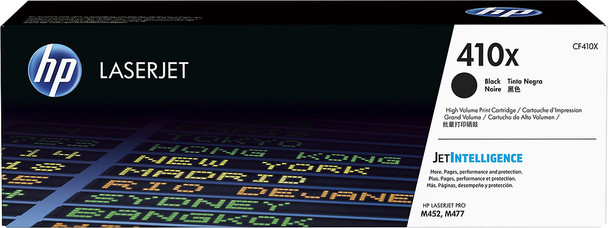 HP 410X High Yield M452/M377/M477 Black LaserJet Toner Cartridge (CF410X)