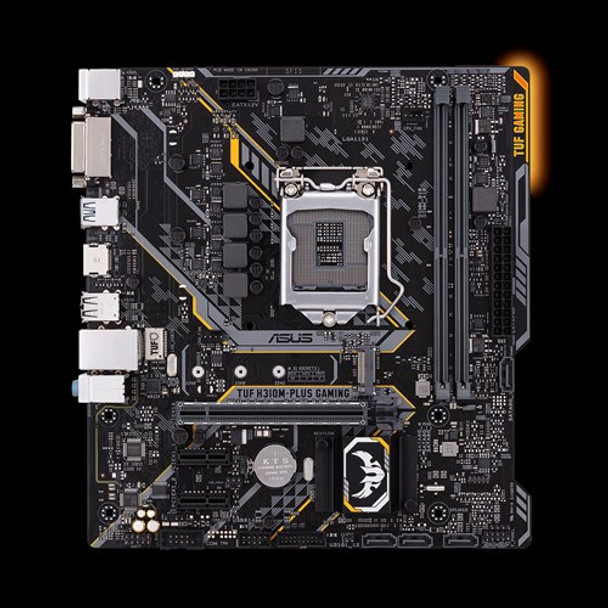 ASUS TUF-H310M-PLUS-GAMING, mATX Gaming Motherboard with Aura Sync RGB LED  lighting, DDR4 2666MHz support, 20Gbps M 2