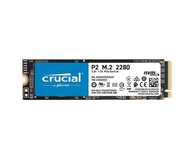 Crucial P2 1tb, M.2 Internal Nvme Pcie Ssd, 2300r/1800w Mb/s, 5yr Wty