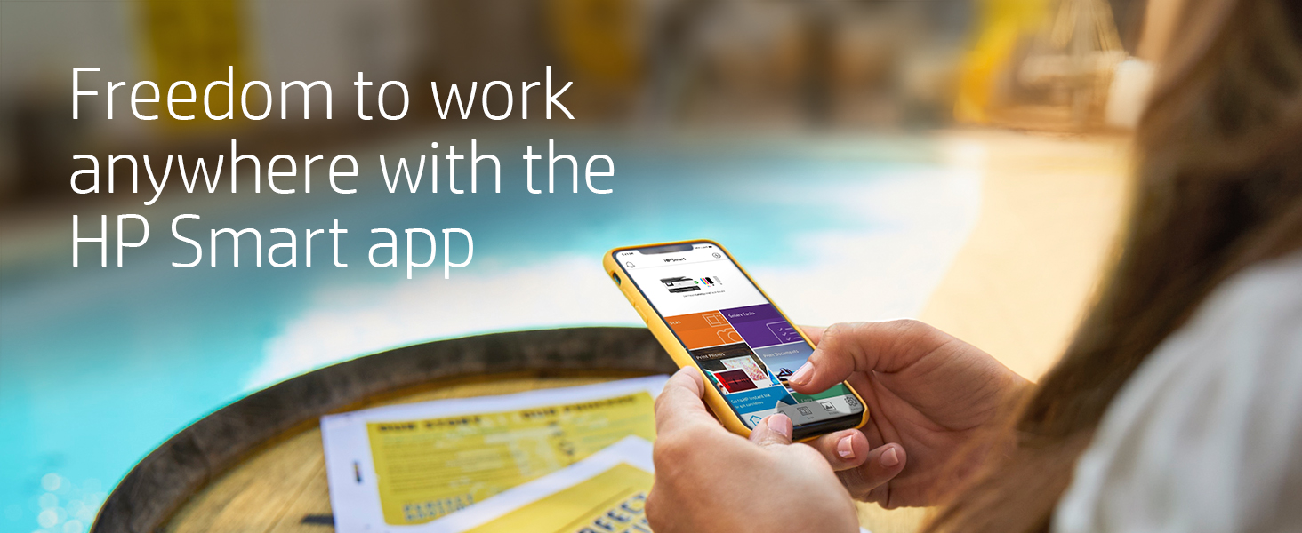 Freedom to work anywhere with HP Smart App