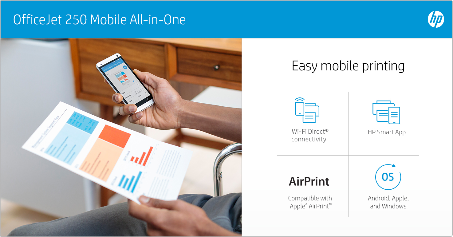 HP OfficeJet 250 Mobile - Easy mobile printing