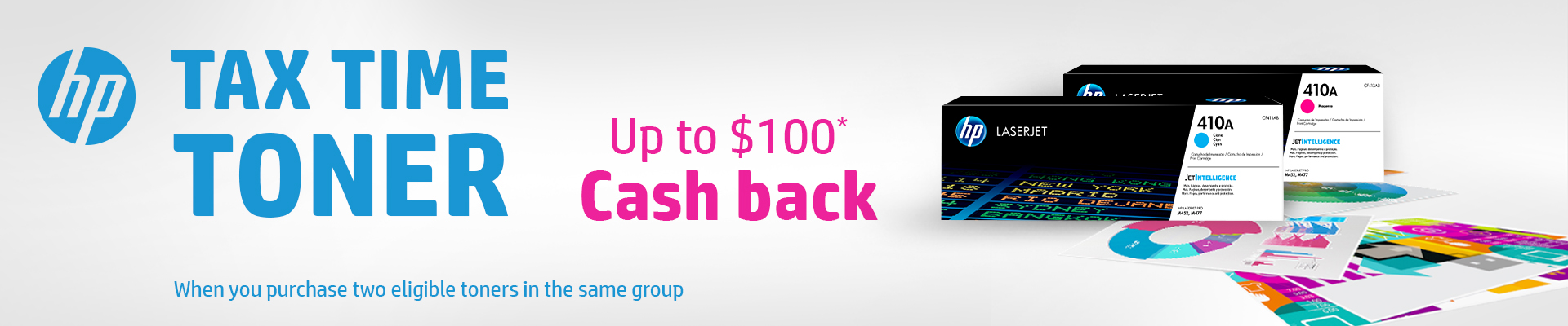 HP Tax Time Toner Cash Back Promotion