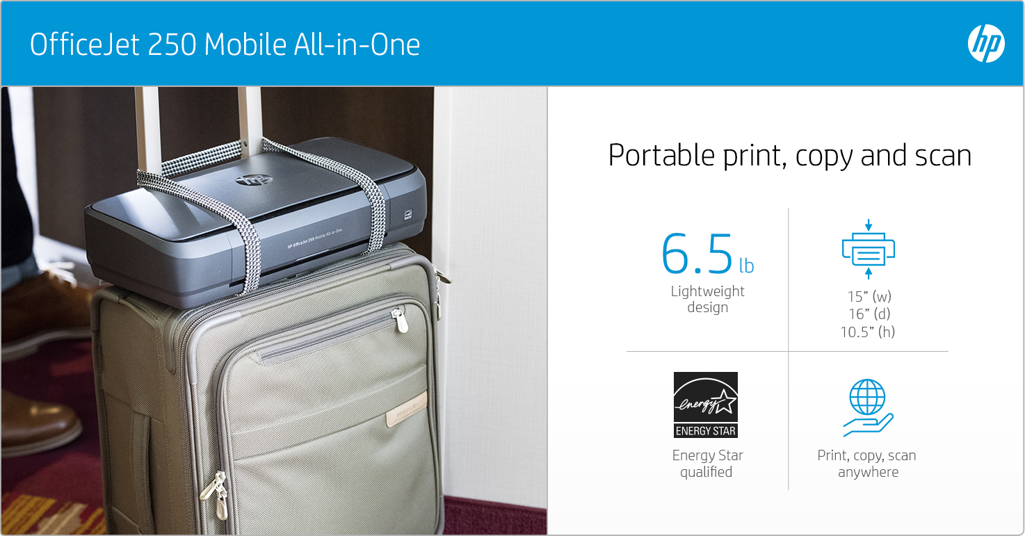 HP OfficeJet 250 Mobile - Portable print, copy, scan