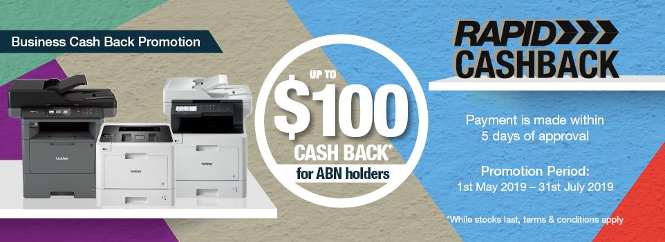 Brother Rapid Cash Back - Up to $100 Cash Back