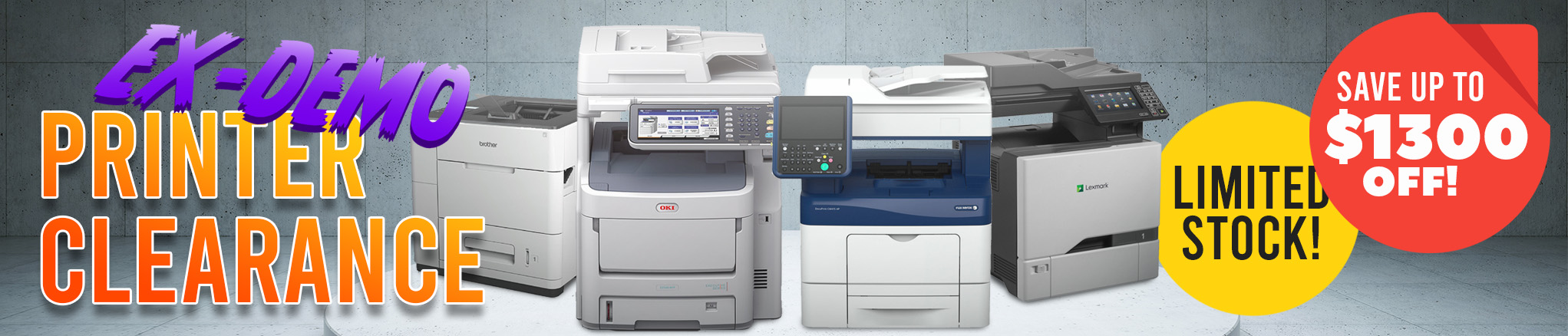 Ex-Demo Clearance Printers: Limited Stock