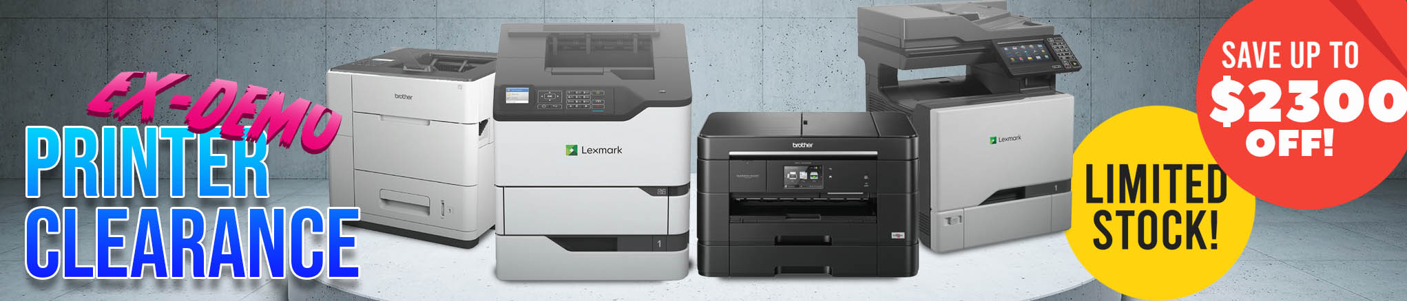 Ex-Demo Printers: Like New & Save up to $2,300 off!