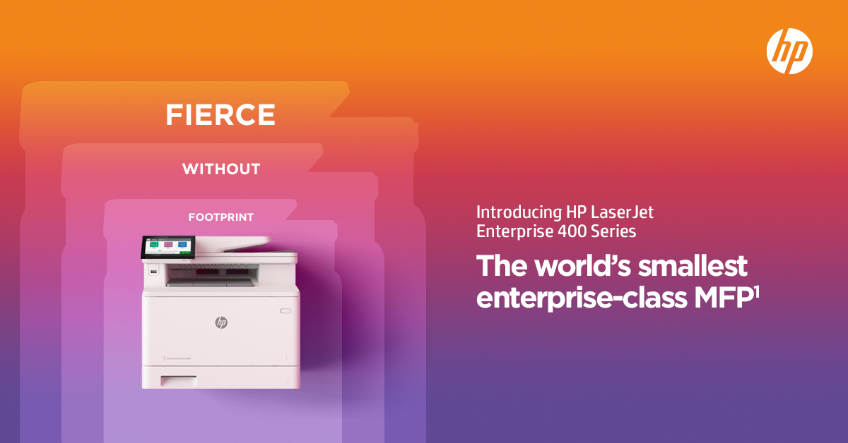 Fierce without Footprint: New HP 400 Enterprise Series