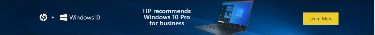 HP Recommends Windows 10 Professional for Business