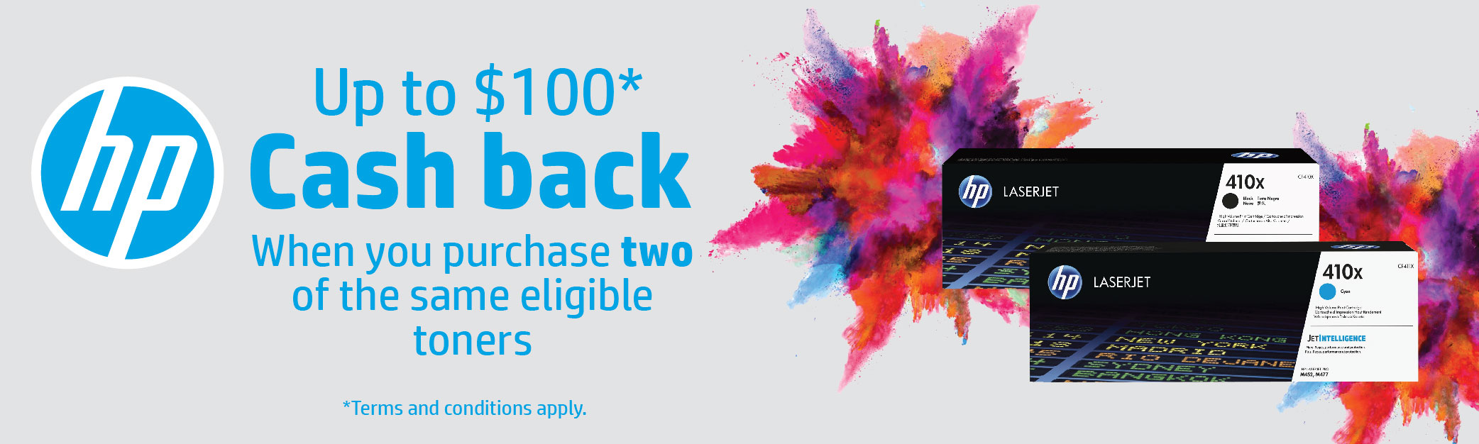 Up to $100 Cash Back HP Toner Promotion