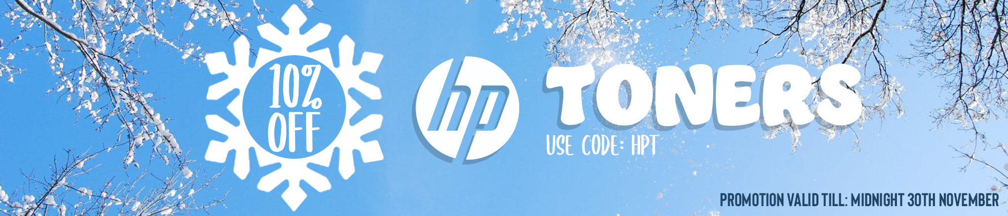 10% off all HP toner cartridges - use code HPT