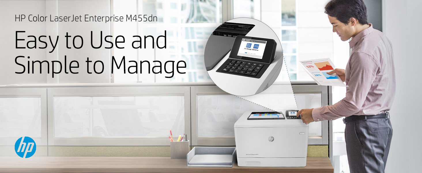 HP Color LaserJet Enterprise M455dn: Easy to Use, Simple to Manage