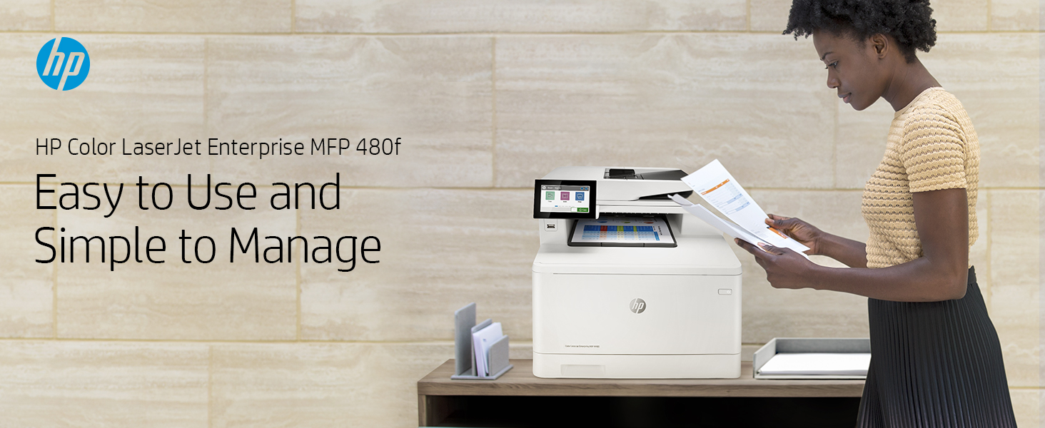 HP Color LaserJet Enterprise MFP M480f: Easy to Use, Simple to Manage