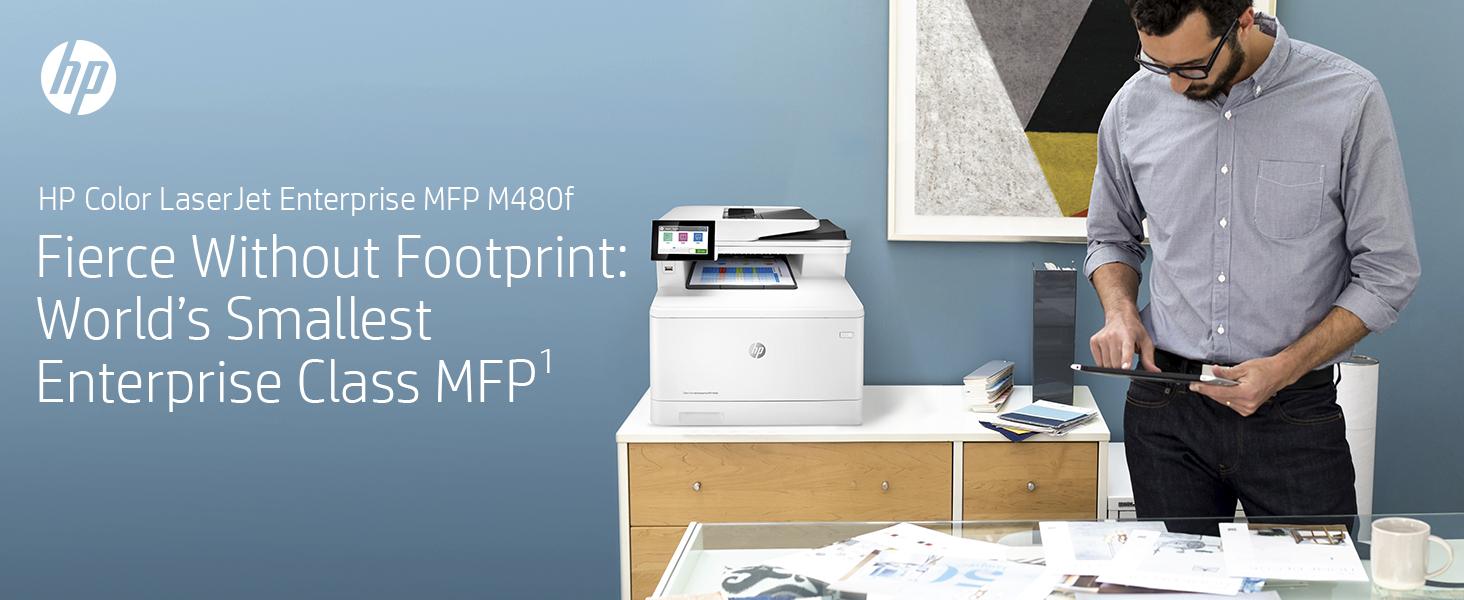 HP Color LaserJet Enterprise MFP M480f: Fierce without Footprint