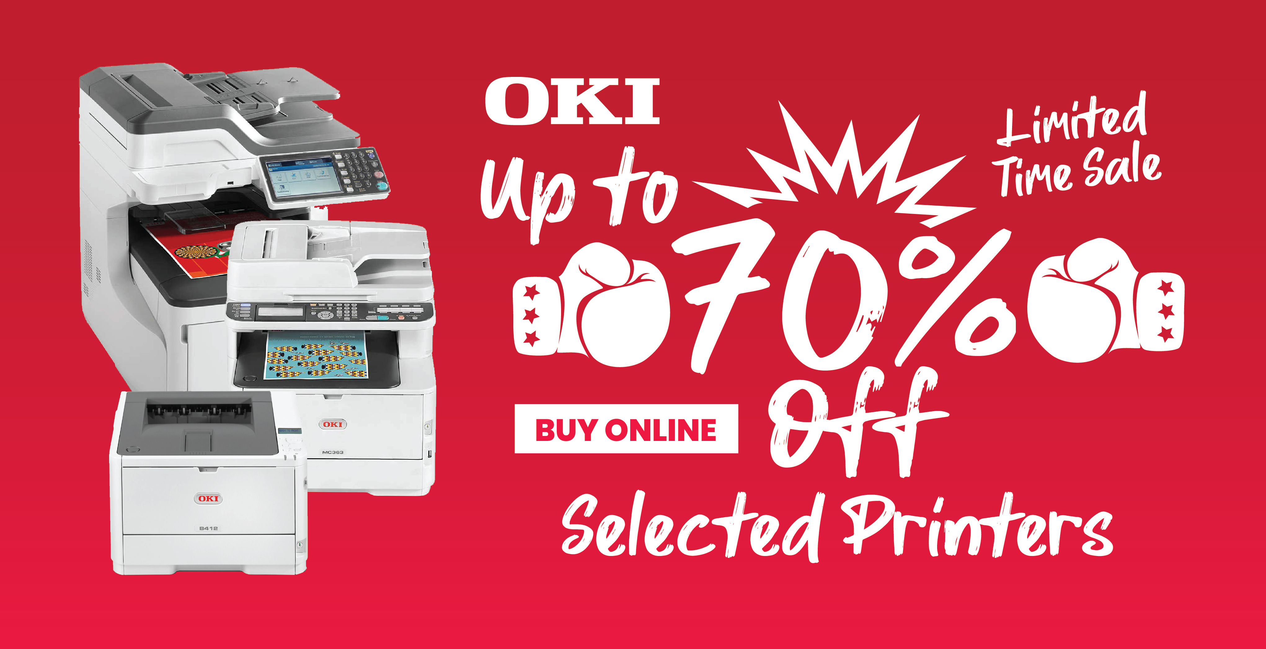 OKI up to 70% off selected printers
