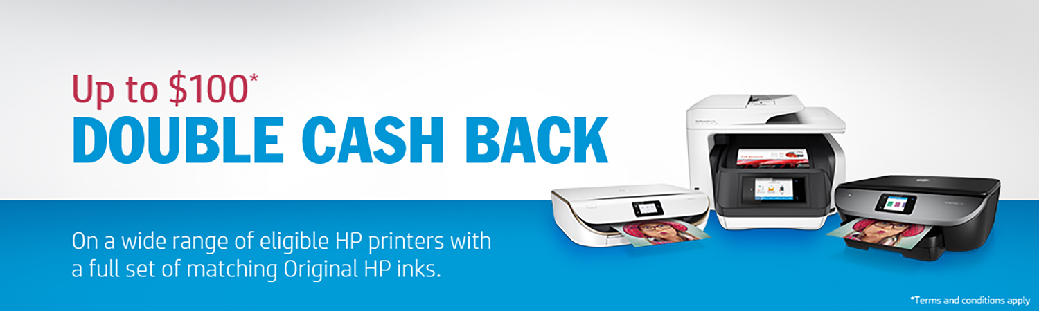 Up to $100 HP Double Cash Back - Back to School