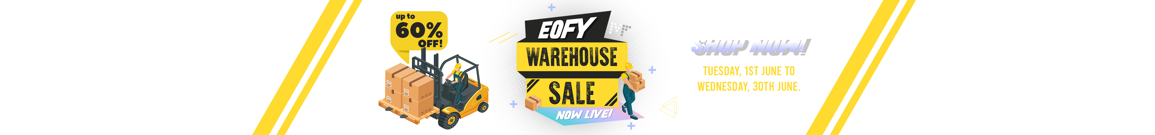 EOFY Warehouse Sale is NOW LIVE: Click Here