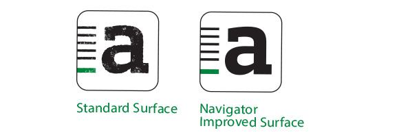 Standard surface vs. Navigator surface