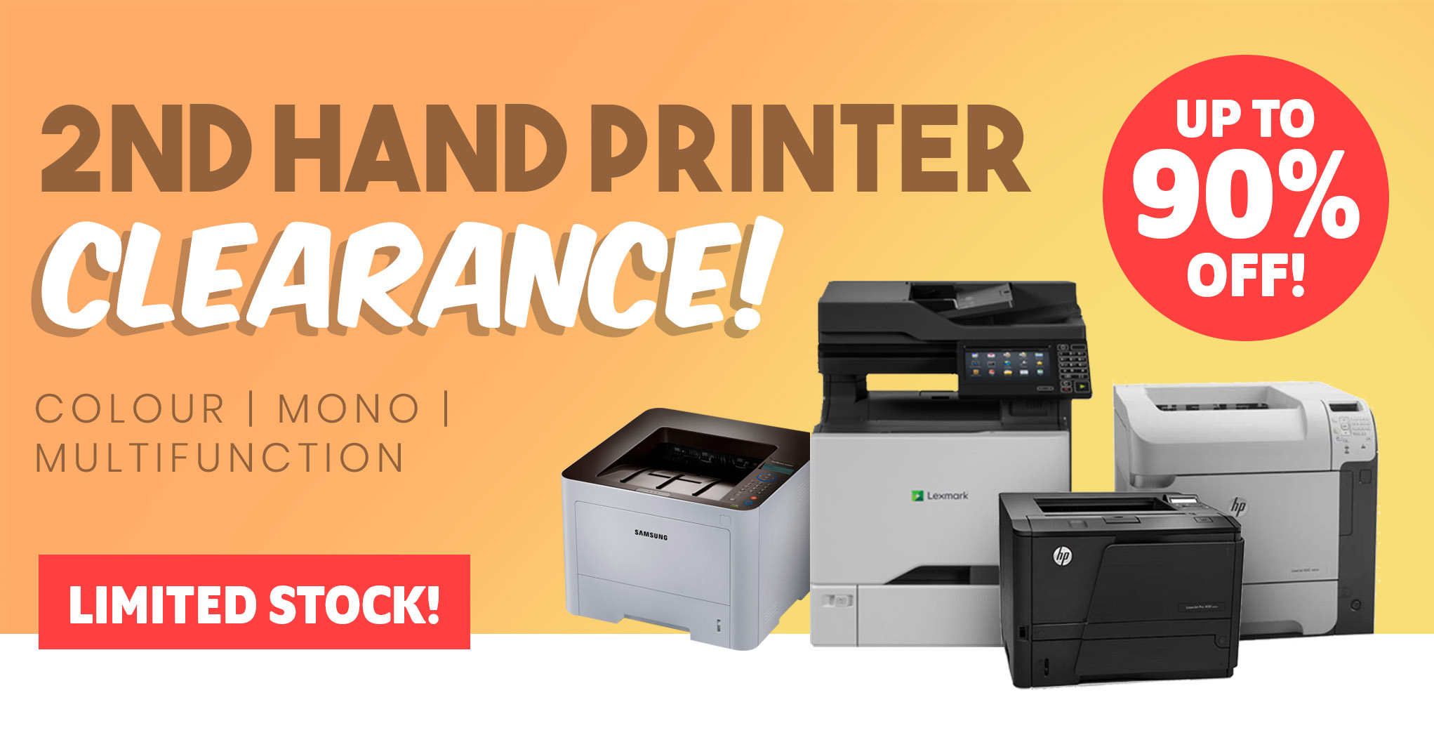 Second Hand Printer Clearance