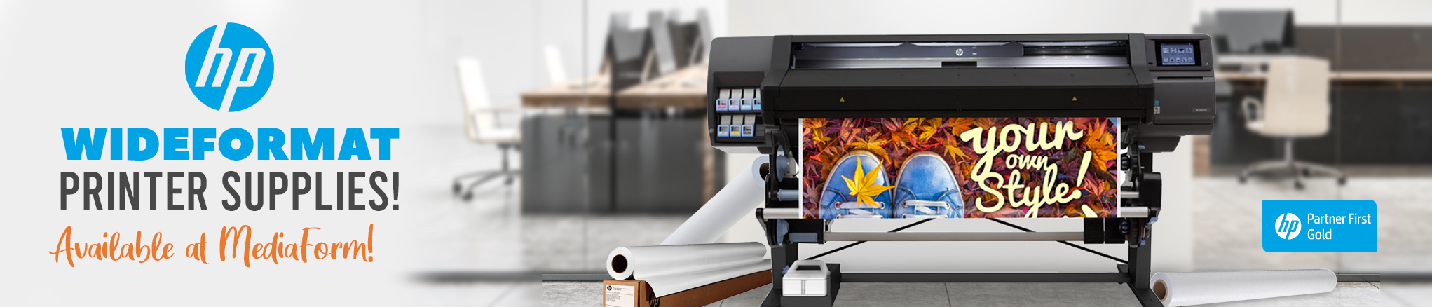 HP Wide Format Printer Supplies - Available at MediaForm