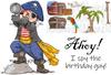 Pirate Hugh with Pirate Stuff