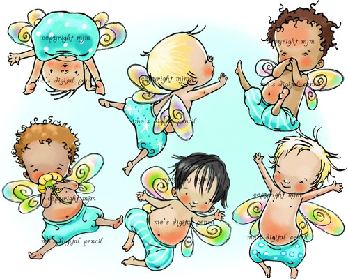 6 Baby Fairies (boys)