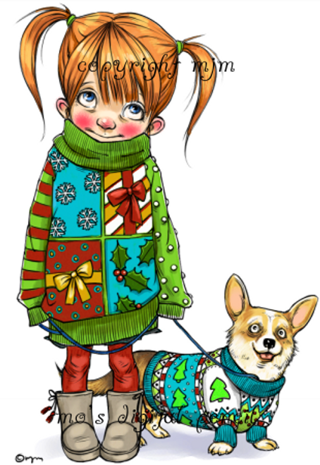 Corgie and Bess - Ugly Sweaters