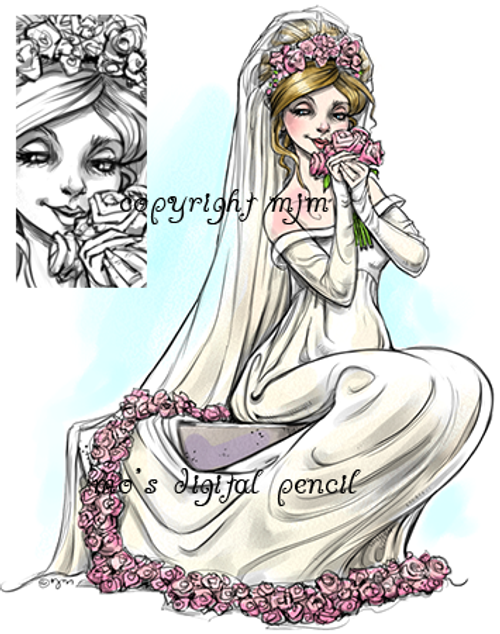 Garden Bride pre-shaded