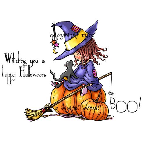 Little Witch Henrietta BW