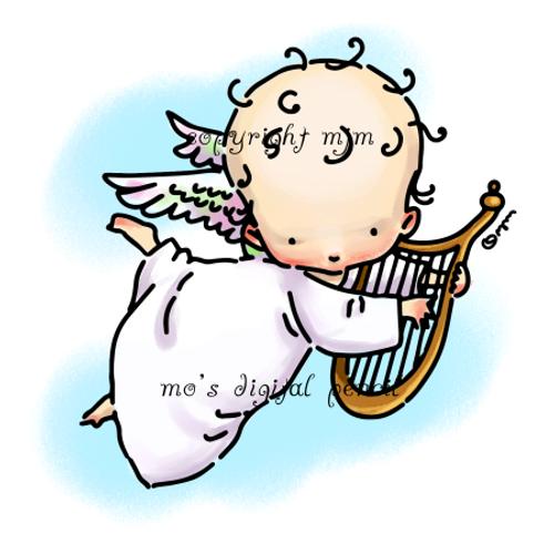 Cherub with Harp