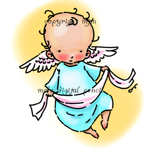 Cherub with Ribbon