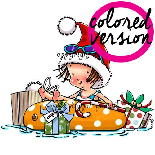Christmas Pool Tot (PRECOLORED)