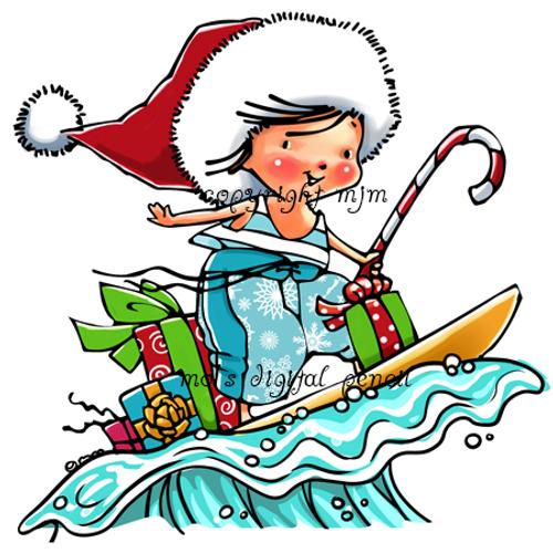 Christmas Surfer Tot
