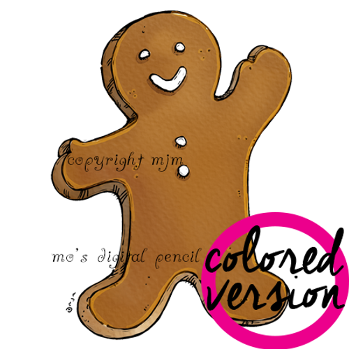 Gingerbread Man (Pre-colored)
