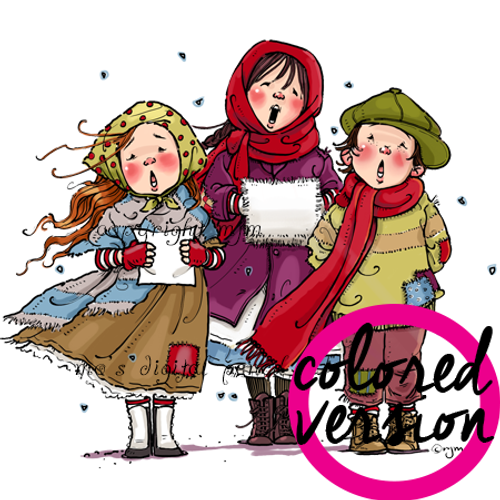 Carolers Three (Precolored)