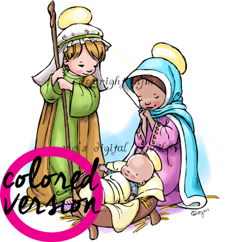 Nativity Play (Precolored version)