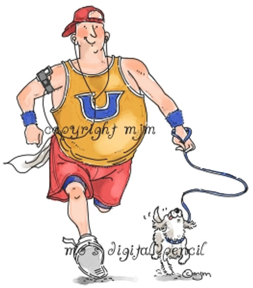 Big Guy Jogging