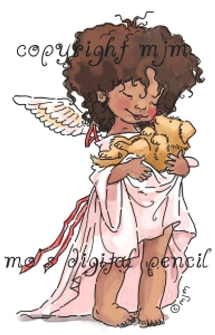 Angel with Puppy