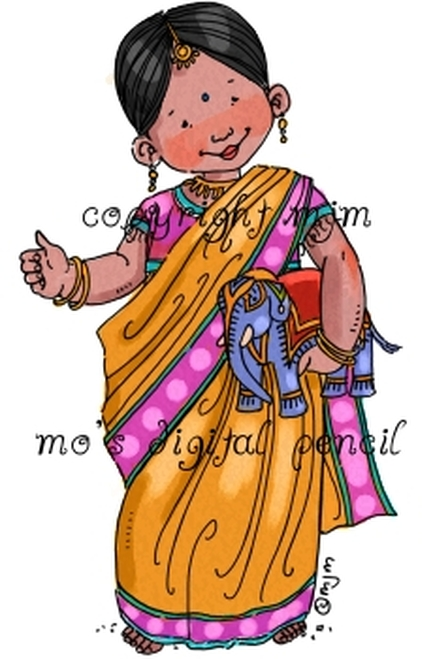 Aashi in a Sari